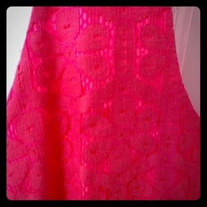 Lilly Pulitzer hot pink lace dress